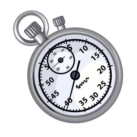 timekeeper: Classic grey chronometer on a white background Illustration