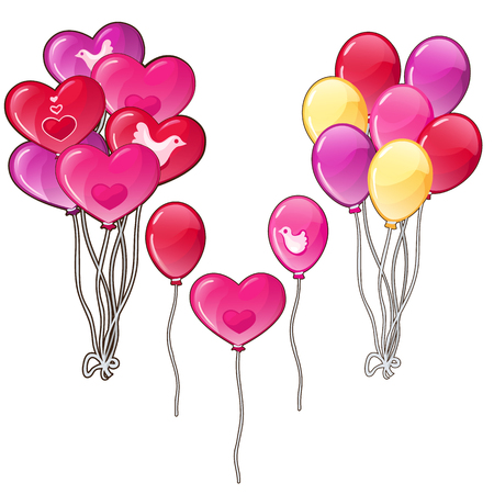 flirting: Balloons bouquets classic shapes and a heart