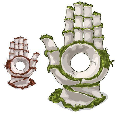 Altes Artefakt in Form von Hand