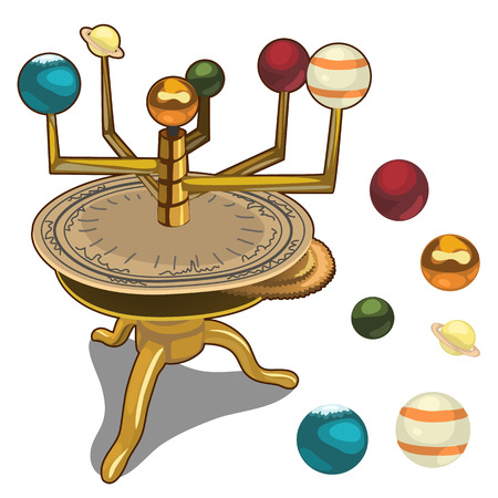 Heliocentric model of the solar system Illustration