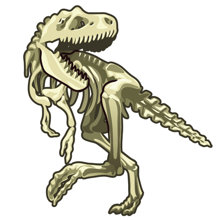 Skeleton of classic prehistoric dinosaur Ilustração