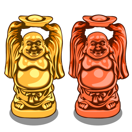 Vector gold and bronze figure of Indian deity Illustration