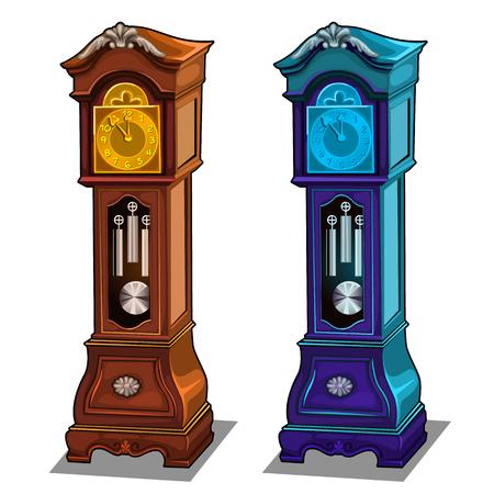 Stylish antique grandfather clocks made of wood