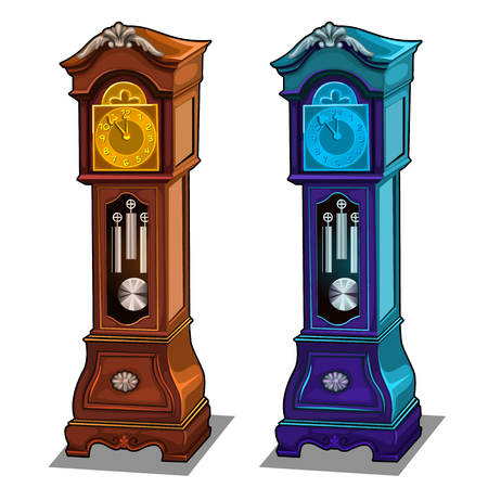 Stylish antique grandfather clocks made of wood