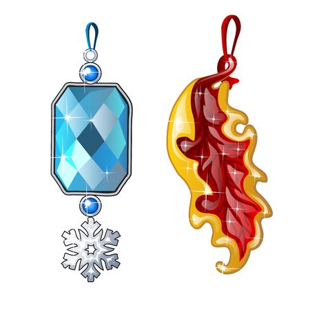 Two precious female jewelry pendant.