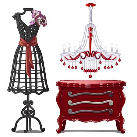 Set of house furniture image illustration