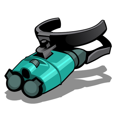 Night vision goggles isolated on a white background. Vector illustration.