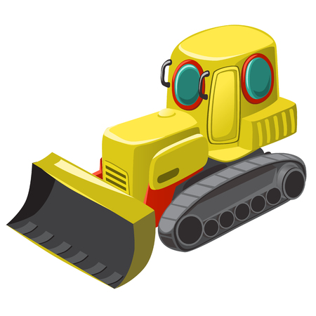 Underwater technique for cleaning of the seabed isolated on white background. Vector cartoon close-up illustration