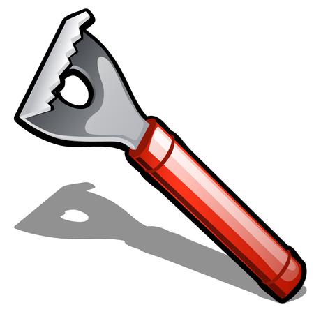 Stainless steel fish scaler isolated on white background. Vector cartoon close-up illustration Ilustração
