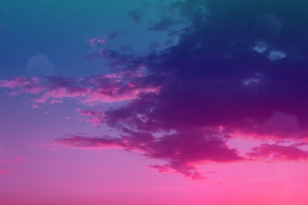 lovely toned sunset or sunrise cloudy sky for using as background in design.
