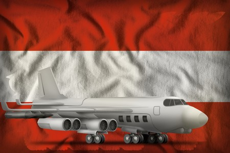bomber on the Austria flag background. 3d Illustration 写真素材