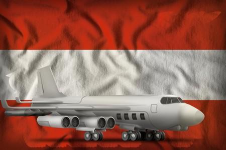 bomber on the Austria flag background. 3d Illustration Stock Photo
