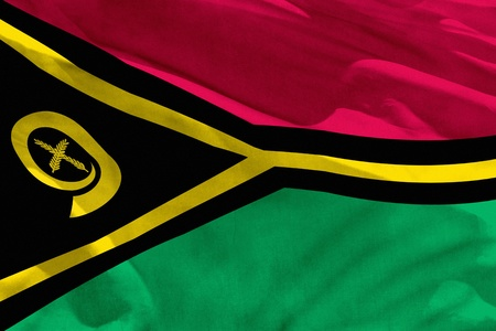 Fluttering Vanuatu flag for using as texture or background, the flag is waving on the wind