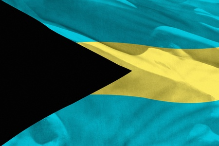 Fluttering Bahamas flag for using as texture or background, the flag is waving on the wind