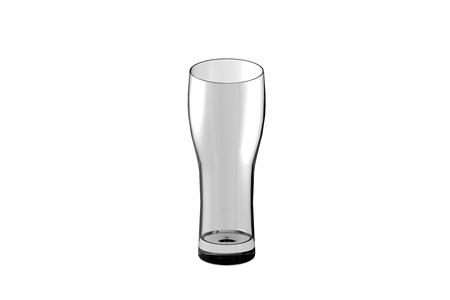 pilsner wheat beer glass isolated on white - drinking glass render, 3D illustration Stock Photo