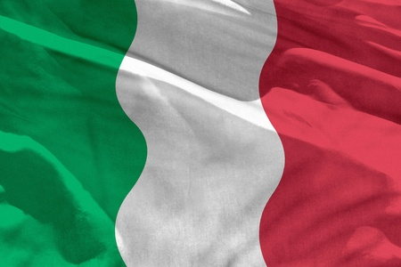 Fluttering Italy flag for using as texture or background, the flag is waving on the wind 免版税图像