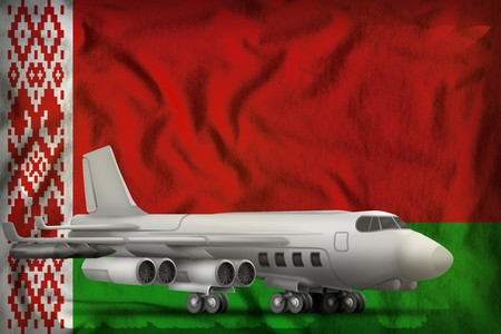 bomber on the Belarus flag background. 3d Illustration