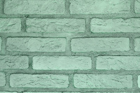 abstract old teal, sea-green brick wall texture for background use. 免版税图像