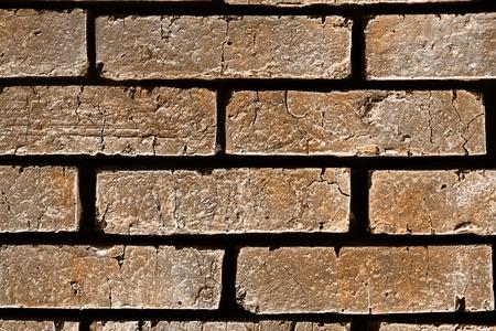 cute orange creative rough brick wall texture - abstract photo background