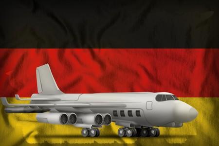 bomber on the Germany flag background. 3d Illustration