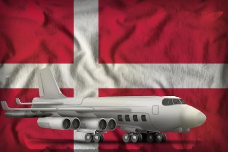 bomber on the Denmark flag background. 3d Illustration