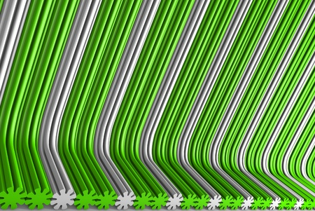 hi-tech green 3D Illustration of abstract background - volumetric surfaces formed by extruded flower shape, fun concept Banco de Imagens - 123803956