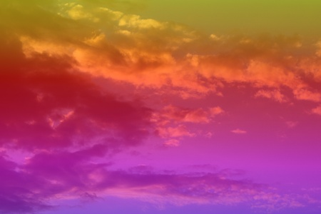 beautiful vivid sun colored clouds on the sky for using as background in design.