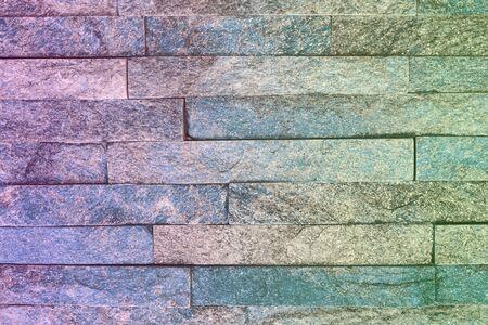 design old natural quartzite stone bricks texture for any purposes. Stock Photo