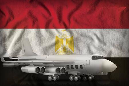 bomber on the Egypt flag background. 3d Illustration