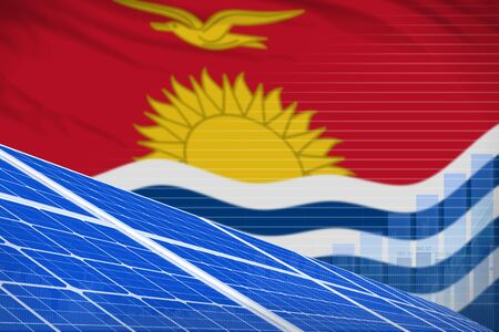 Kiribati solar energy power digital graph concept  - green energy industrial illustration. 3D Illustration Stock Photo
