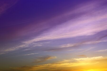 amazing bright sunset or sunrise clouds in the sky for using as background in design.