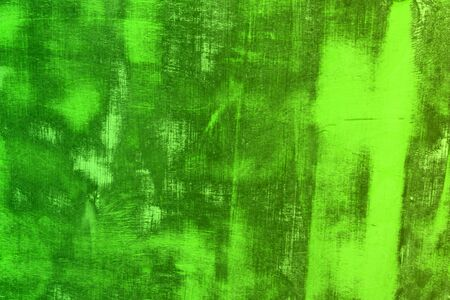 nice green old texture of wooden wall with large scratches - abstract photo background Stockfoto
