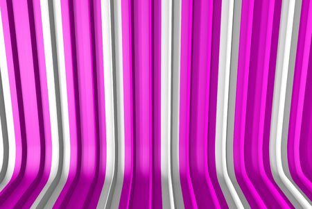 volumetric surfaces formed with extruded star shape, holiday concept - hi-tech pink 3D Illustration of abstract background Stock Photo
