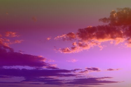 marvellous unreal colorful fantasy sunset or sunrise clouds on the sky for using as background in design. 写真素材