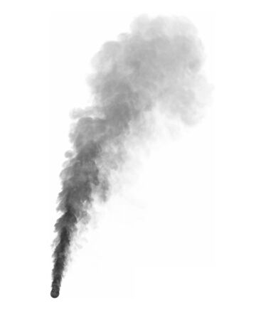 dark visionary smoke isolated on white background - 3D illustration of smoke