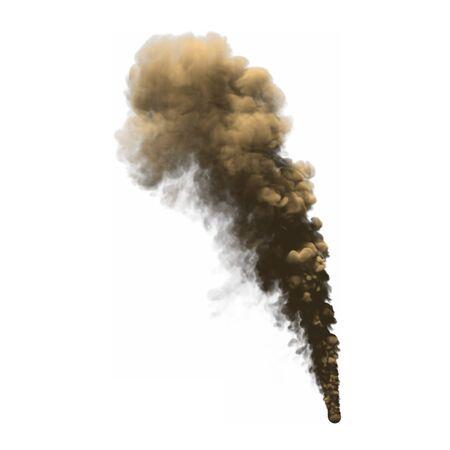 3D illustration of fantasy heavy smoke isolated on white background