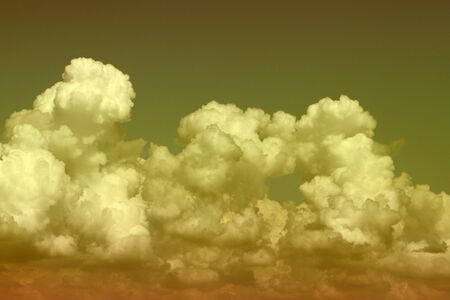 nice unreal bright fantasy cumulus clouds for using as background in design.
