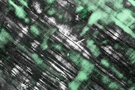 fantastic green grunge texture of wooden panel with different big cleared spots - abstract photo background 免版税图像
