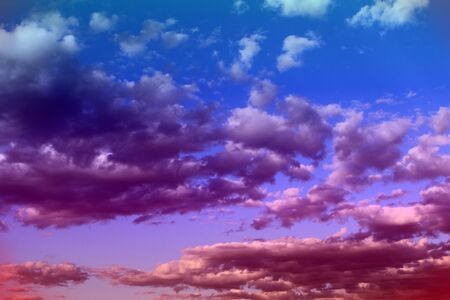 nice unreal toned fantasy light cloudy sky for using as background in design.