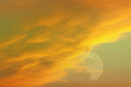 wonderful unreal vivid fantasy heavy clouds for using as background in design.