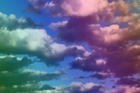wonderful unreal vivid fantasy soft clouds for using as background in design. 免版税图像