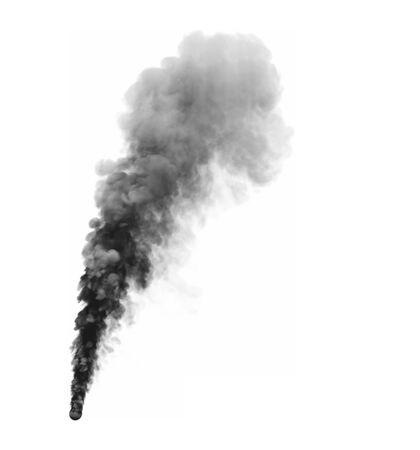 3D illustration of misty dense smoke isolated on white background