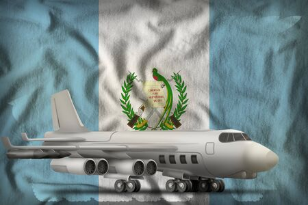 bomber on the Guatemala flag background. 3d Illustration