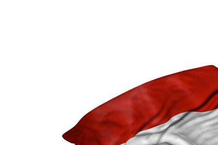 beautiful anthem day flag 3d illustration  - Austria flag with large folds lying flat in bottom right corner isolated on white 写真素材
