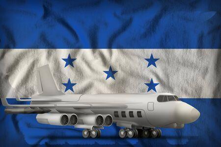bomber on the Honduras flag background. 3d Illustration Stockfoto