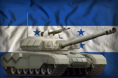 heavy tank on the Honduras flag background. 3d Illustration