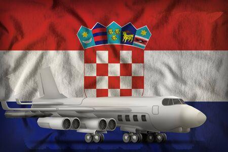 bomber on the Croatia flag background. 3d Illustration Stockfoto - 130072578