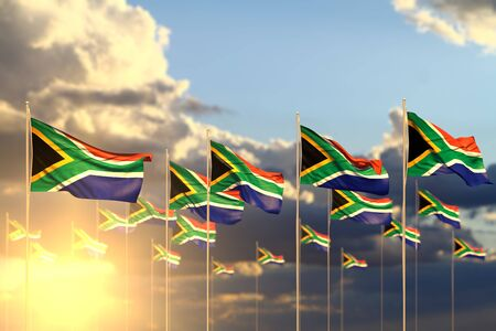 pretty anthem day flag 3d illustration