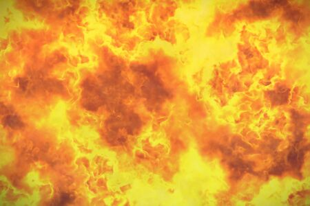 mystical flaming explosion abstract background or texture - fire 3D illustration