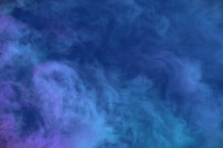 Cute heavy misty clouds of smoke colorful background or texture - 3D illustration of smoke